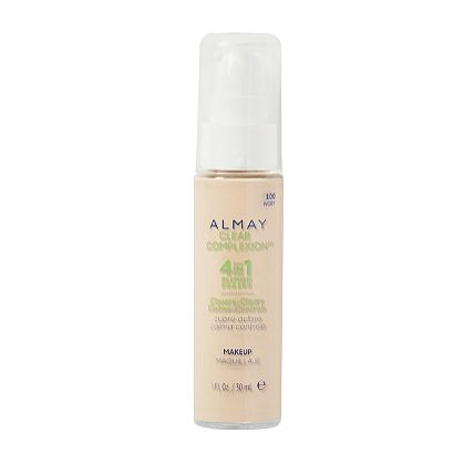 """Almay Clear Complexion 4-in-1 Blemish Eraser. Hands down the best foundation I have ever used. I've struggled with acne since I was 13 (I'm 23 now) and I wish I'd known about this years ago! The formula provides amazing, lightweight coverage, and my skin looks clearer and feels healthier after only a week of use. Best part is that the price is only around $15, so you don't have to break the bank!""  —helenm4f55d1d61  Get it here, for $15."