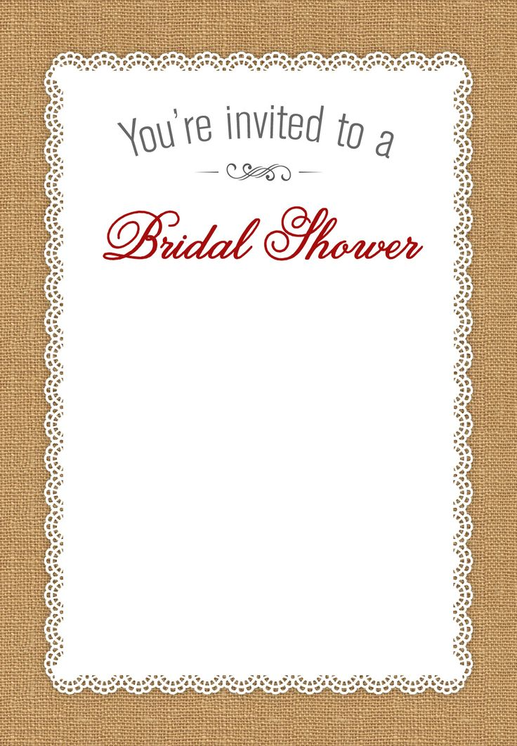 15 best INVITATION TEMPLATES images on Pinterest Invitation - free templates for bridal shower invitations
