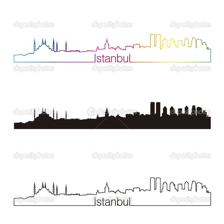 istanbul skyline silhouette - Google Search