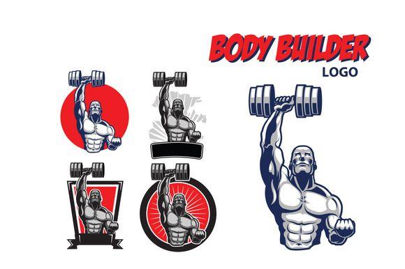 Body Builder Logo by Gagu on Creative Market