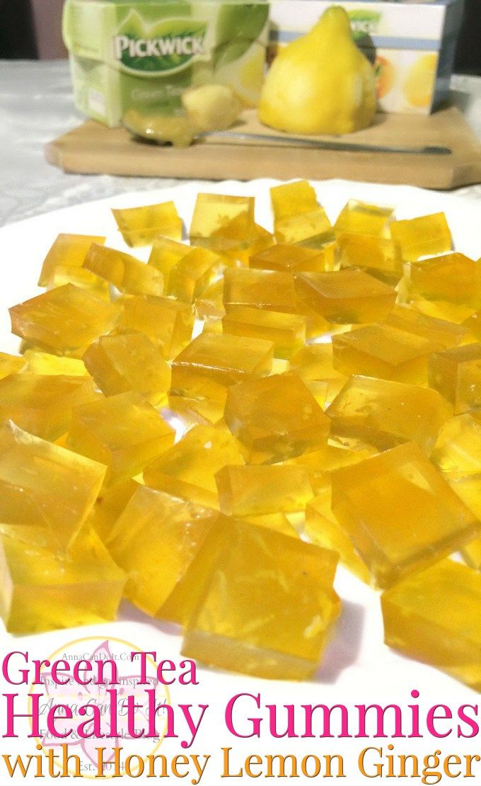 Green Tea Healthy Gummies with Honey Lemon Ginger - Anna Can Do It!