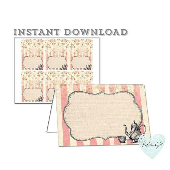 25+ best Printable place cards ideas on Pinterest | Vintage place ...