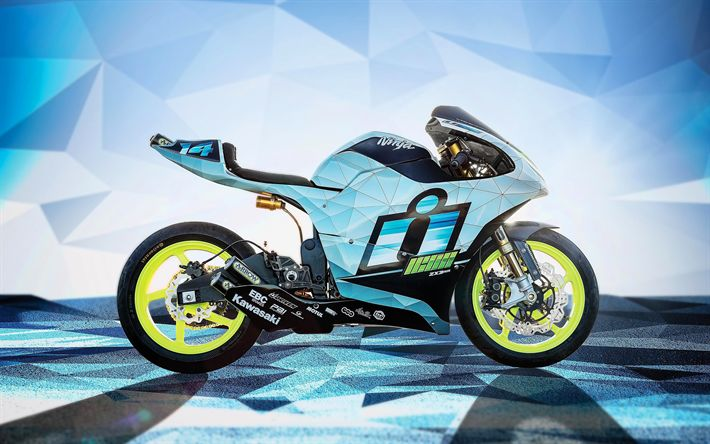Download wallpapers Kawasaki ZX3-RR Concept, 4k, 2017 bikes, Icon Motorsports, sportbikes, Kawasaki