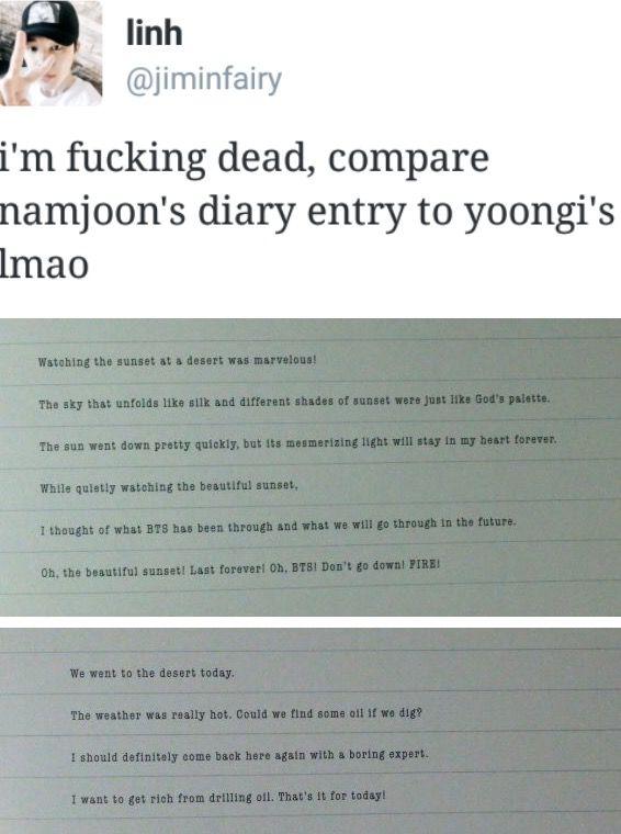 The difference between namjoon and yoongi lmao