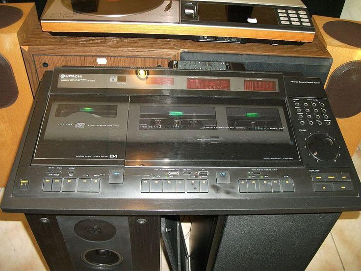 hitachi w50. hitachi mx-w50 from mid 80s. awesome design and sound! | retro pinterest w50 c