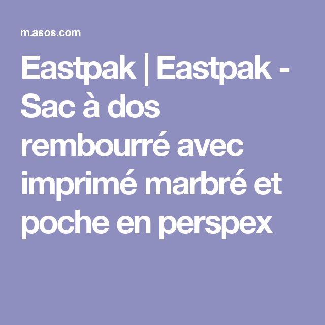 Eastpak | Eastpak - Sac à dos rembourré avec imprimé marbré et poche en perspex