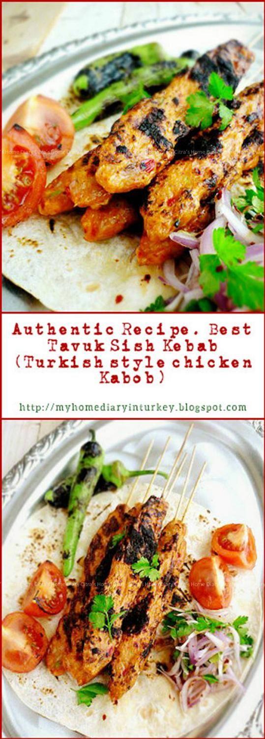 Tavuk Kebab: Chicken Shish Kebab