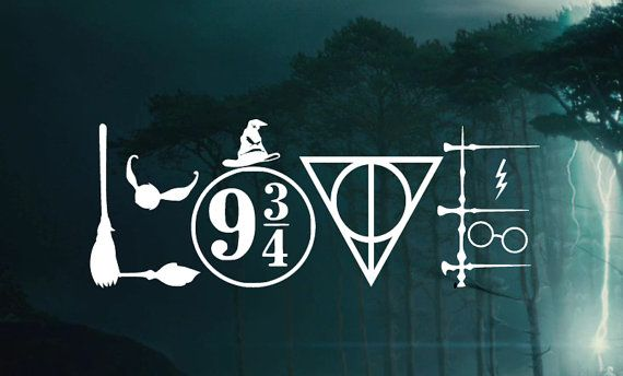 Harry Potter LOVE Symbols Decal -  Car decal Window Sticker - Laptop Sticker Decal by ScullyDogDesigns