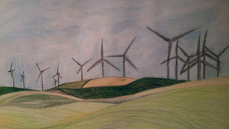 Ветрогенераторы вырабатывают электричество улавливая силу ветра