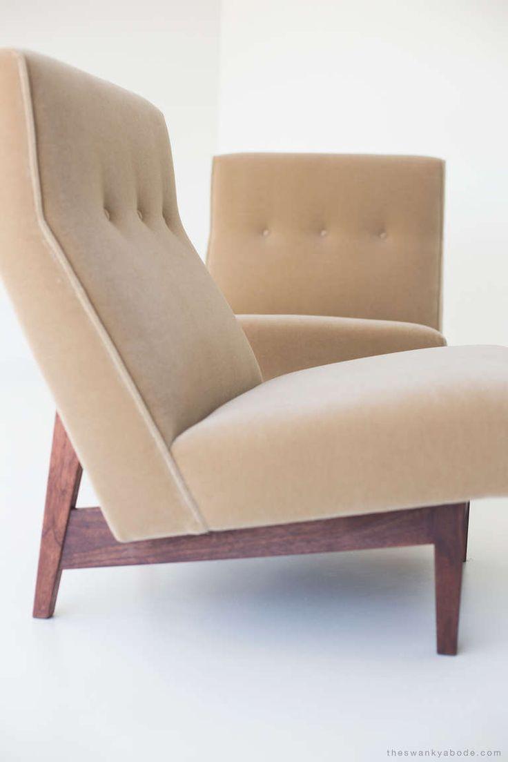 Jens risom floating bench for sale at 1stdibs - Jens Risom Lounge Chairs For Jens Risom Design Inc Image 5