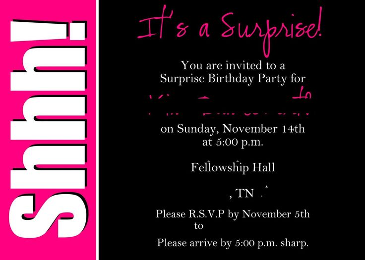 Best 25 surprise birthday invitations ideas on pinterest surprise birthday party invitations hi everyone lets come and join us at mr longo 40 years old birthday party mr longo will be turning 40 years old in solutioingenieria Images