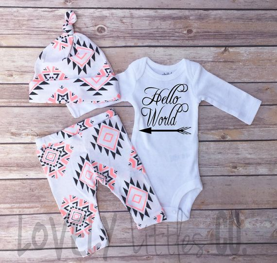Baby Outfit Set Baby Girls Coming Home Outfit by Lovelylittlesco