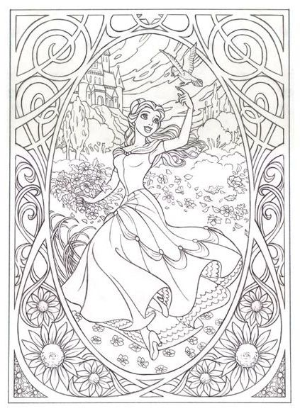 Adult Disney Coloring Book | Disney coloring pages