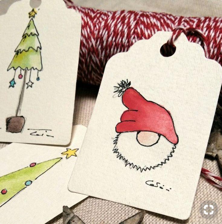 новогодние рисунки для открыток своими руками гора