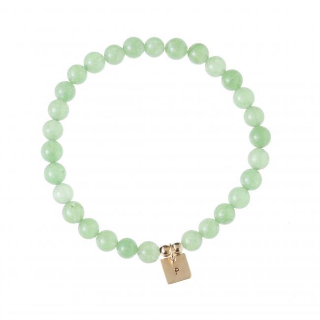 Mini Initial Green Bracelet