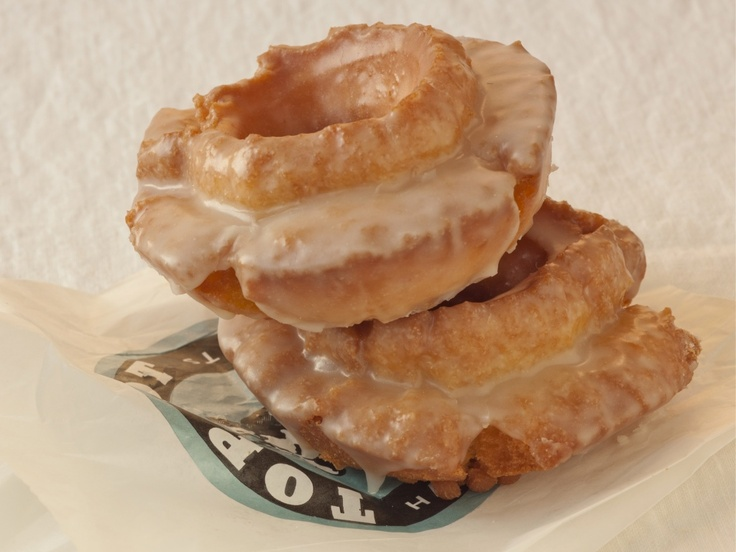 Top Pot's Glazed Sour Cream Old Fashioned Doughnuts - I thought I was going to be able to keep away from deep frying this year, but this picture just made me reconsider