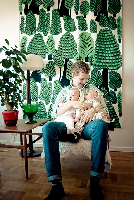 Twins + Trees + DadWall Hanging, Dads