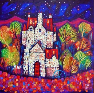 Scottish Artist Ritchie COLLINS - Glenlair Hoose