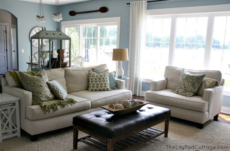 Family room - thelilypadcottage house tour