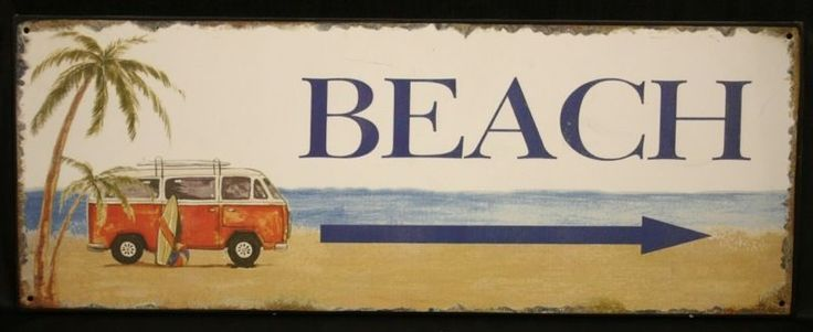 plaque m u00e9tal d u00e9co combi vw volkswagen beach surf plage
