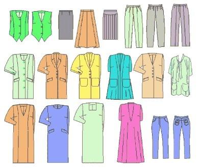 pantalones, vestidos