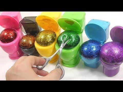 Baa Baa Black Sheep Nursery rhymes Song Satisfying Slime Glitter Glue Colors Water Balloons Cutting - YouTube