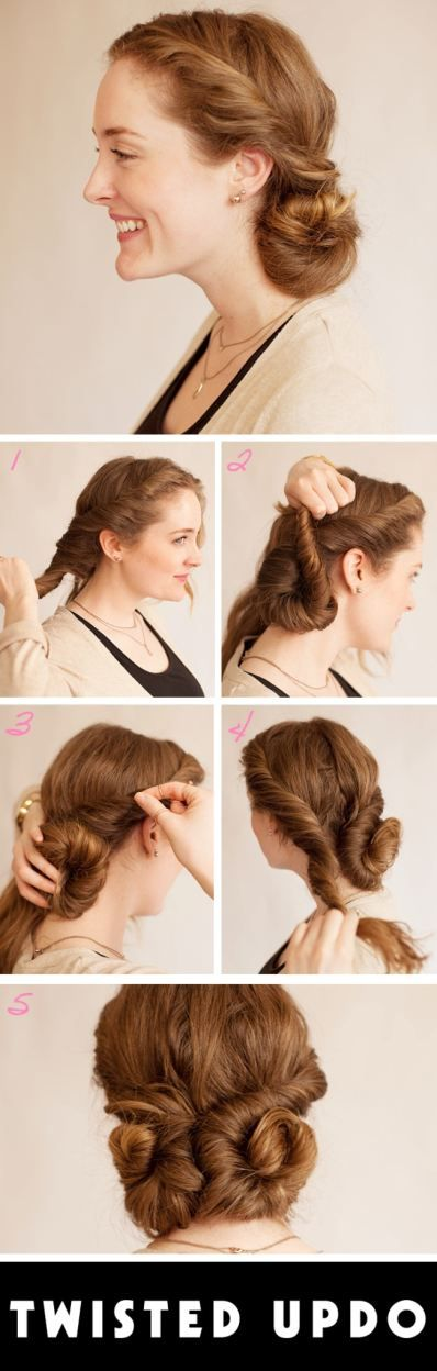 Easy prom updos: The Twisted Chignon hairstyle | Get the full tutorial at BeautyHigh.com