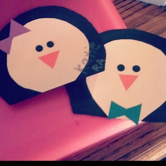 Penguin Door Decs with bows!