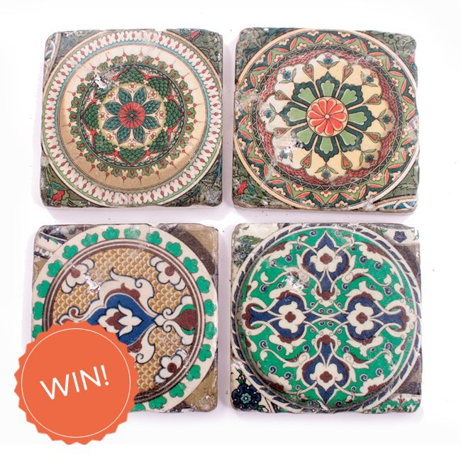 #WIN a beautiful set of 4 Moroccan ceramic tile coasters from the wonderful Heritagehouseinteriors.co.uk with this week's #FreebieFriday! Enter over on the Create Facebook page. facebook.com/create