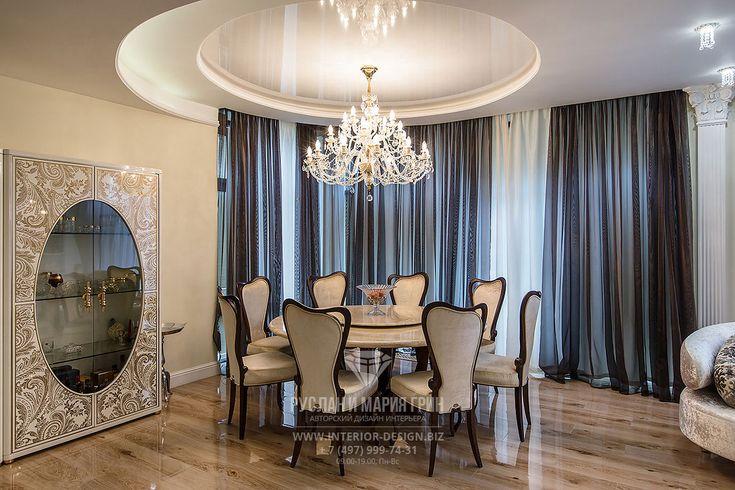Дизайн столовой в частном доме. Фото интерьера
