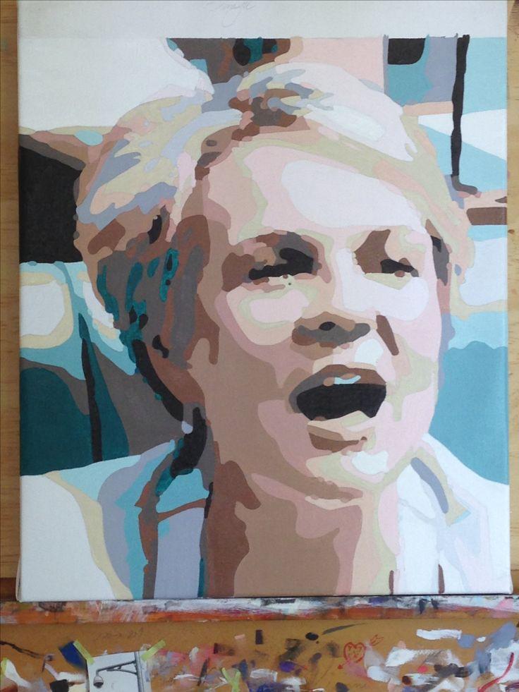 Tanya Plibersek oil on canvas