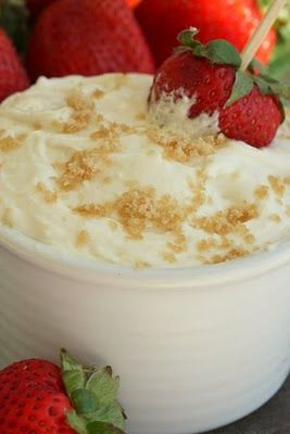 Brown Sugar Fruit Dip Recipe ~ brown sugar, cream cheese, sour cream,