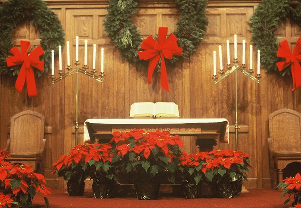17 Best Images About Decorating Church For Christmas. On