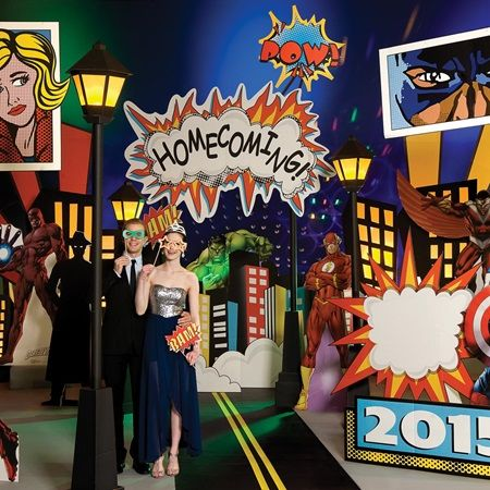 Superhero City Complete Theme-Superhero is still super hot and is a unique theme idea for Prom 2016