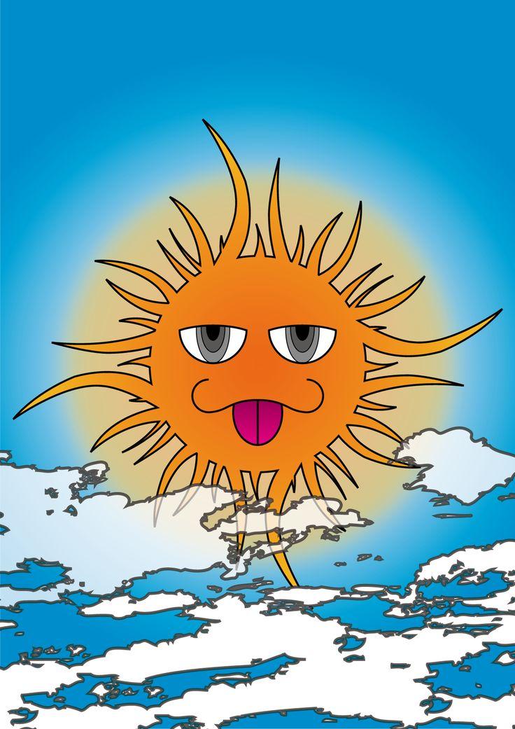 太陽 (株式会社シーエルエス『太陽のイラストコンテスト』入賞)