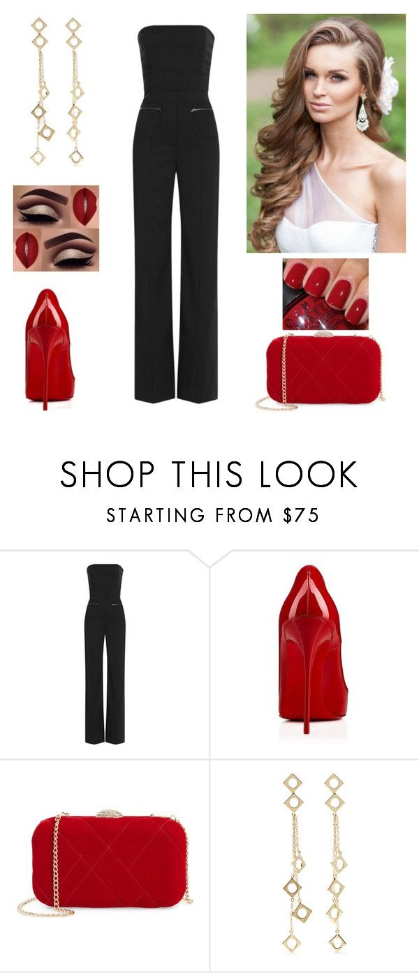 """""""Black & red"""" by paoladouka on Polyvore featuring Maison Margiela, Christian Louboutin, Nina and Arme De L'Amour"""