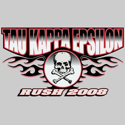 #Greek #Screenprinted Shirts #FraternityRush #Recruitment #TKE #TauKappaEpsilon #Skull