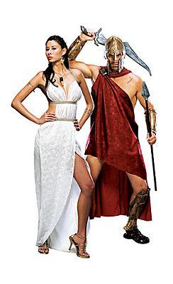 Queen Gorgo and Deluxe Spartan 300 Couples Costumes