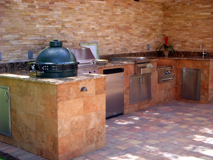 74 best images about outdoor kitchens on pinterest for Outdoor summer kitchen grills