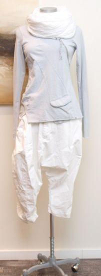 stilecht - mode für frauen mit format... - rundholz dip - Hose mit Ärmel Cotton weiss - Sommer 2013