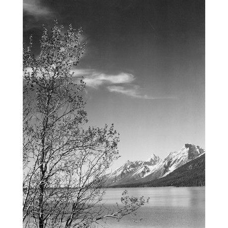 """Вид на горы, Национальный парк Гранд-Титон // Вайоминг, 1941 (12,75 """"Ш х 16"""" H)"""