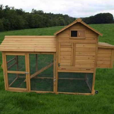 Aosom LLC Deluxe Portable Backyard Chicken Coop with Nesting box