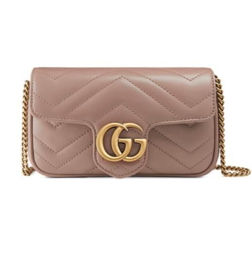 05a6cb480 Gucci Marmont Gg Matelassé Quilted Leather Super Mini Taupe Cross Body Bag  - Tradesy