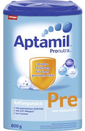 Aptamil Pre kann von Geburt an als Alleinnahrung oder auch zum Zufüttern verwendet werden. Es ist bis zum Ende des Flaschenalters geeignet. Mit patentierte...