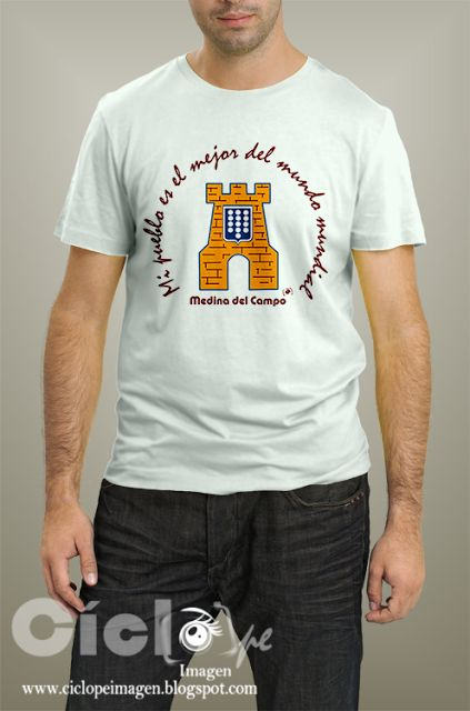 Camiseta con Repostero  creada por CI con motivo de la VI Feria Renacentista de Medina del Campo que se puede conseguir en 3 versiones: pintada a mano, impresa en la camiseta y un transfer para que cada uno se lo ponga a golpe de plancha y salga más barato