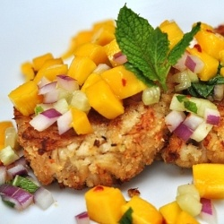 ginger crab cakes with mango mojito salad more crab cakes mango mojito ...