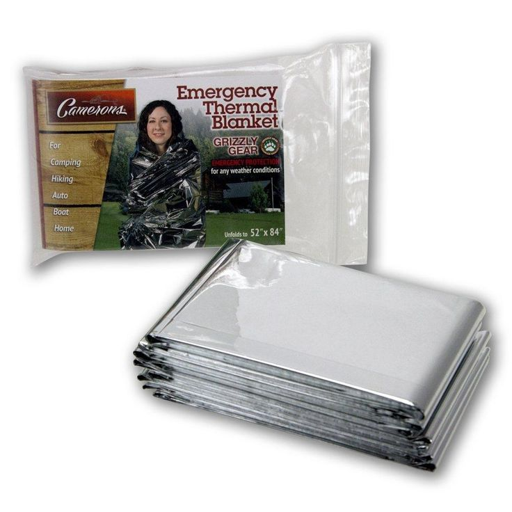 """Emergency Thermal Blankets - Grizzly Gear - Folds to 52"""" X 84"""""""