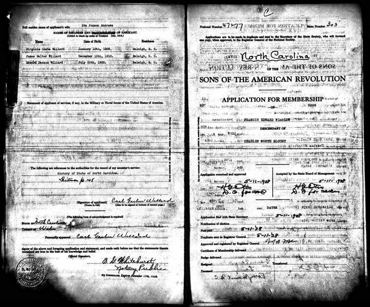 James Blount discovered in U.S., Sons of the American Revolution Membership Applications, 1889-1970