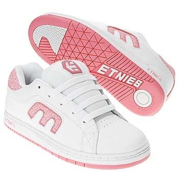 Pink & white etnies