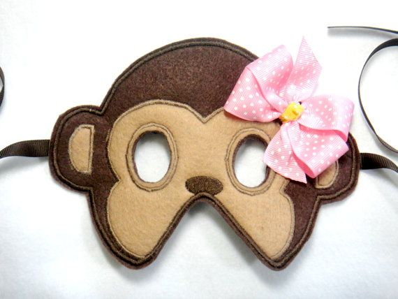 Toddler Lil' Miss Monkey Felt Mask by lilliannamarie on Etsy, $12.00